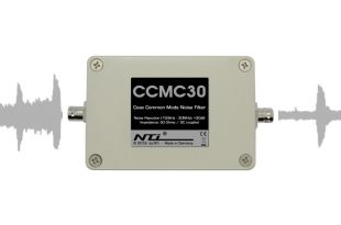 CCMC 30 Coax Common Mode Noise Filter. Noise Rejection: >30dB @ 150kHz - 30MHz. Imepdance 50 Ohms / DC coupled