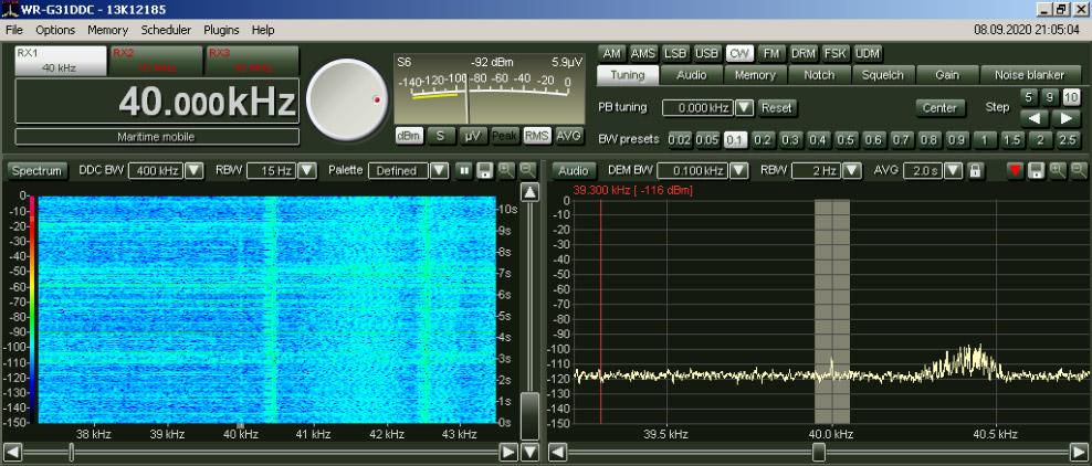 Zeitzeichen - Fernempfang Fukushima JJY40 auf 40kHz mit MegaLoop FX