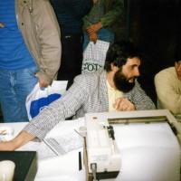 Bonito auf der Interradio 1989 Helmut Fischer im Kundengespräch