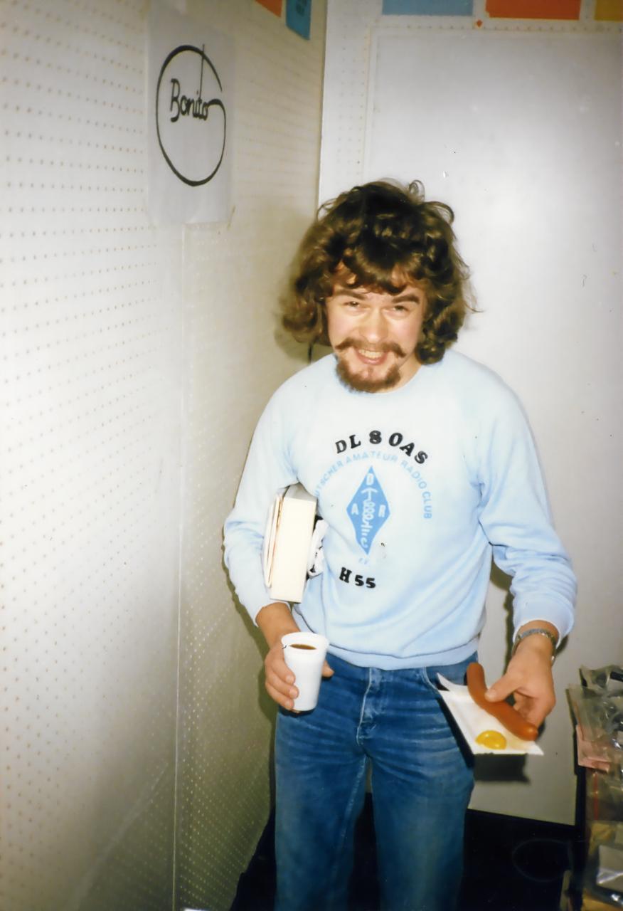 Bonito Interradio 1989 Jens Jens Sieler-Hornke (DL8OAS) bei der Arbeit