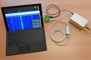 den KiwiSDR direkt am Microsoft Surface betreiben.