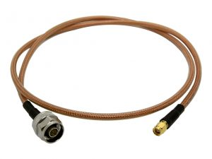 Adapterkabel SMA-Stecker auf N-Stecker aus Hyperflex 5 Crystal