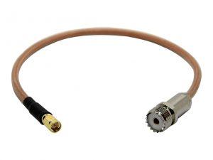 Adapterkabel SMA-Stecker auf PL-Buchse aus Hyperflex 5 Crystal