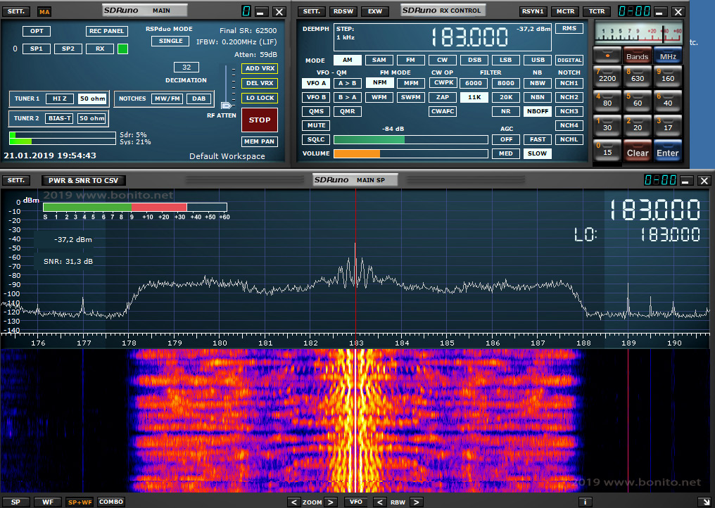 SDRPlay RSPduo – Antenna test | Bonito Newsroom